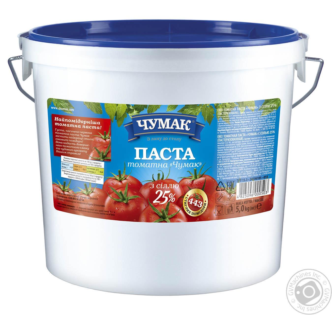 Купить Паста томатная Чумак с солью 25% 5кг
