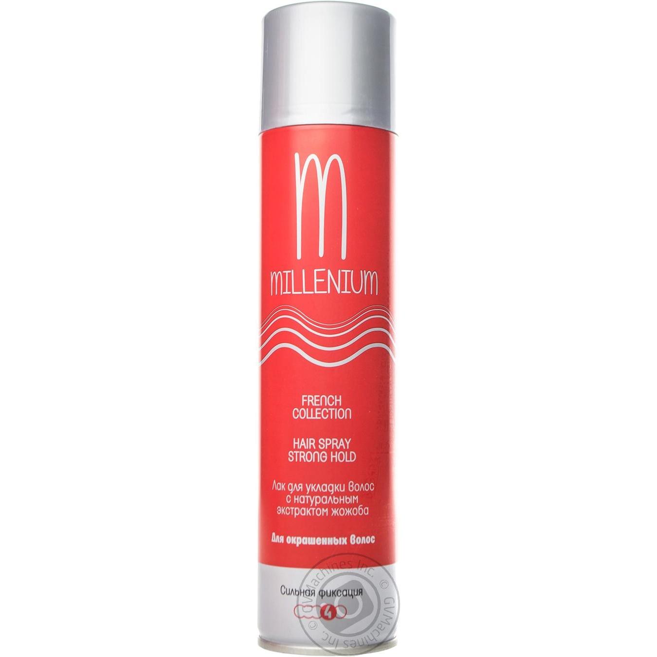 Купить Лак Millenium для волос сильная фиксация с натуральным экстрактом жожоба для окрашенных волос 250мл Россия