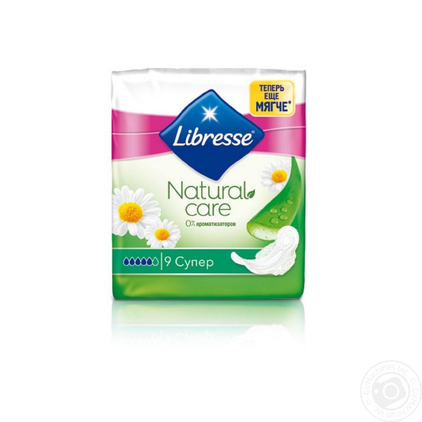 Купить Прокладки Libresse Natural care super 9шт