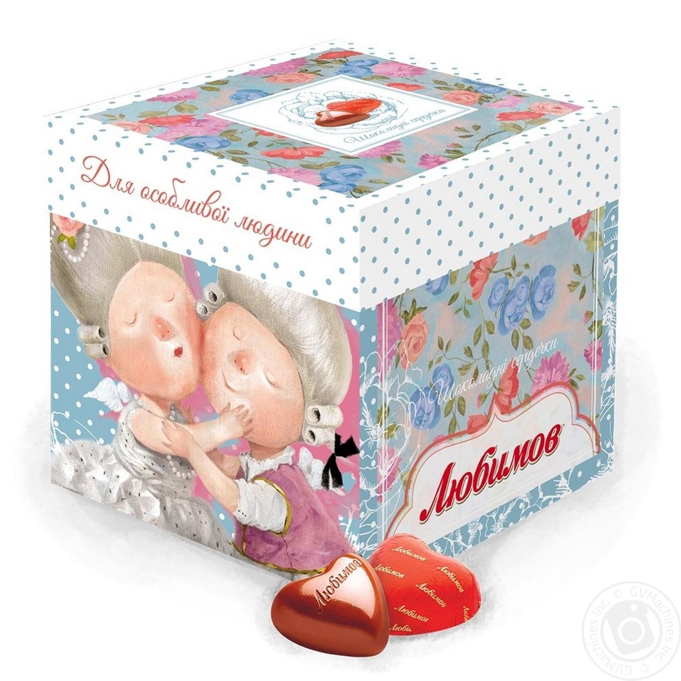 Купить Конфеты Любимов Gapchinska Шоколадные сердечки 208г