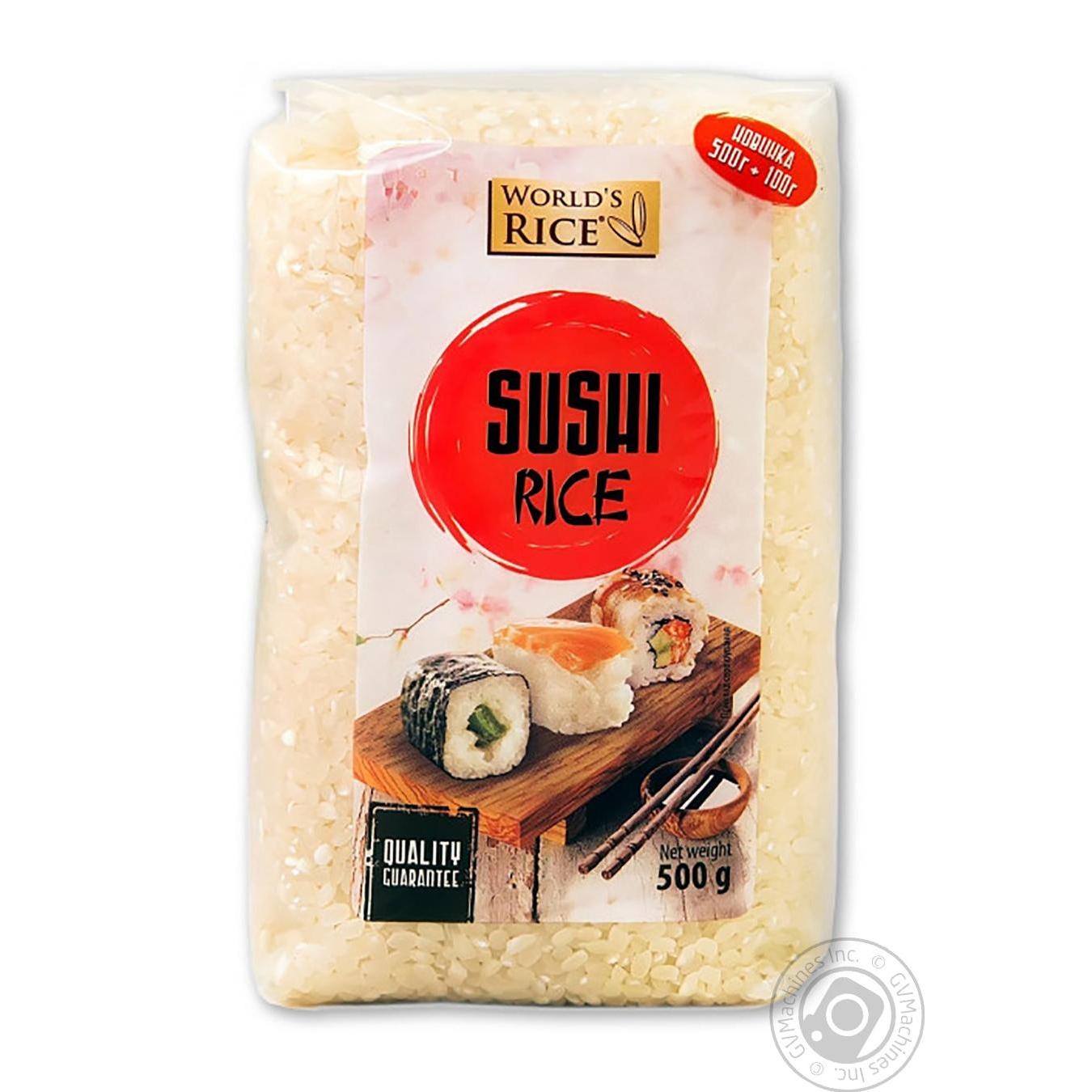 Купить Рис World's Rice для суши 500г