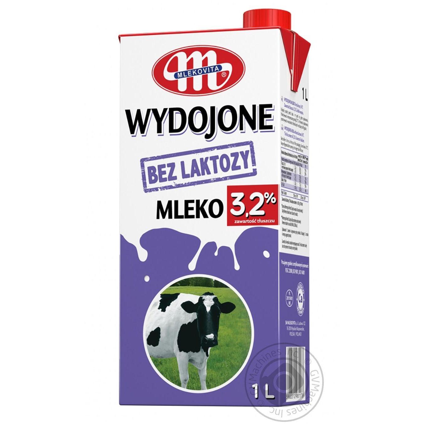 Купить Молоко Mlekovita безлактозное 3, 2% 1000мл