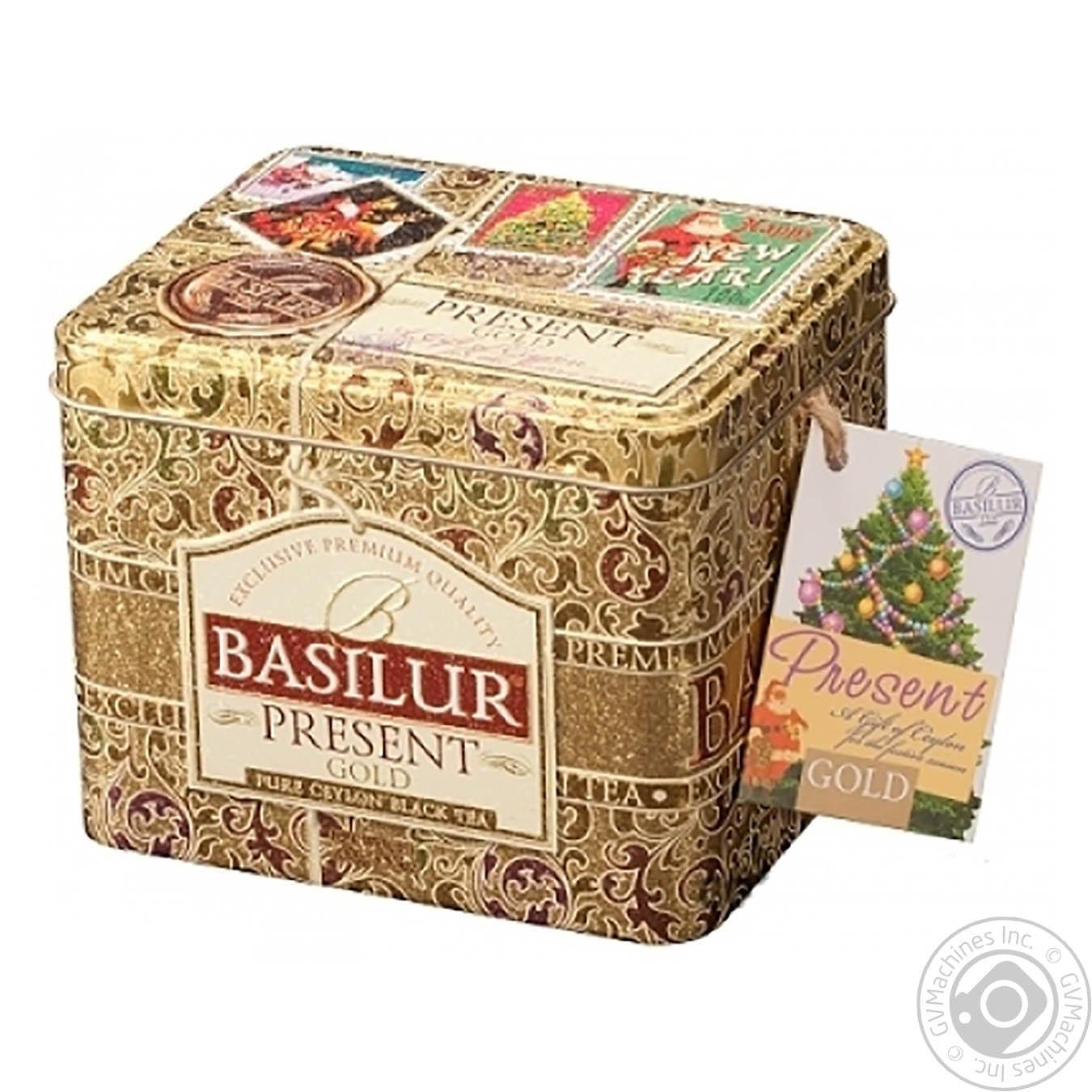 Купить Чай Basilur Золотий Подарунок чорний цейлонський крупнолистовий з домішками 100г
