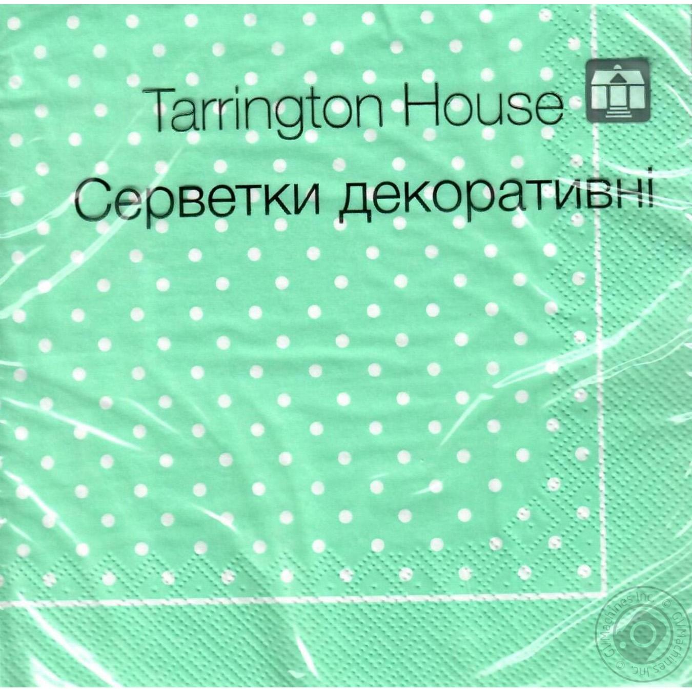 Купить Салфетки Tarrington House Горошки 33*33 трехслойные 18шт