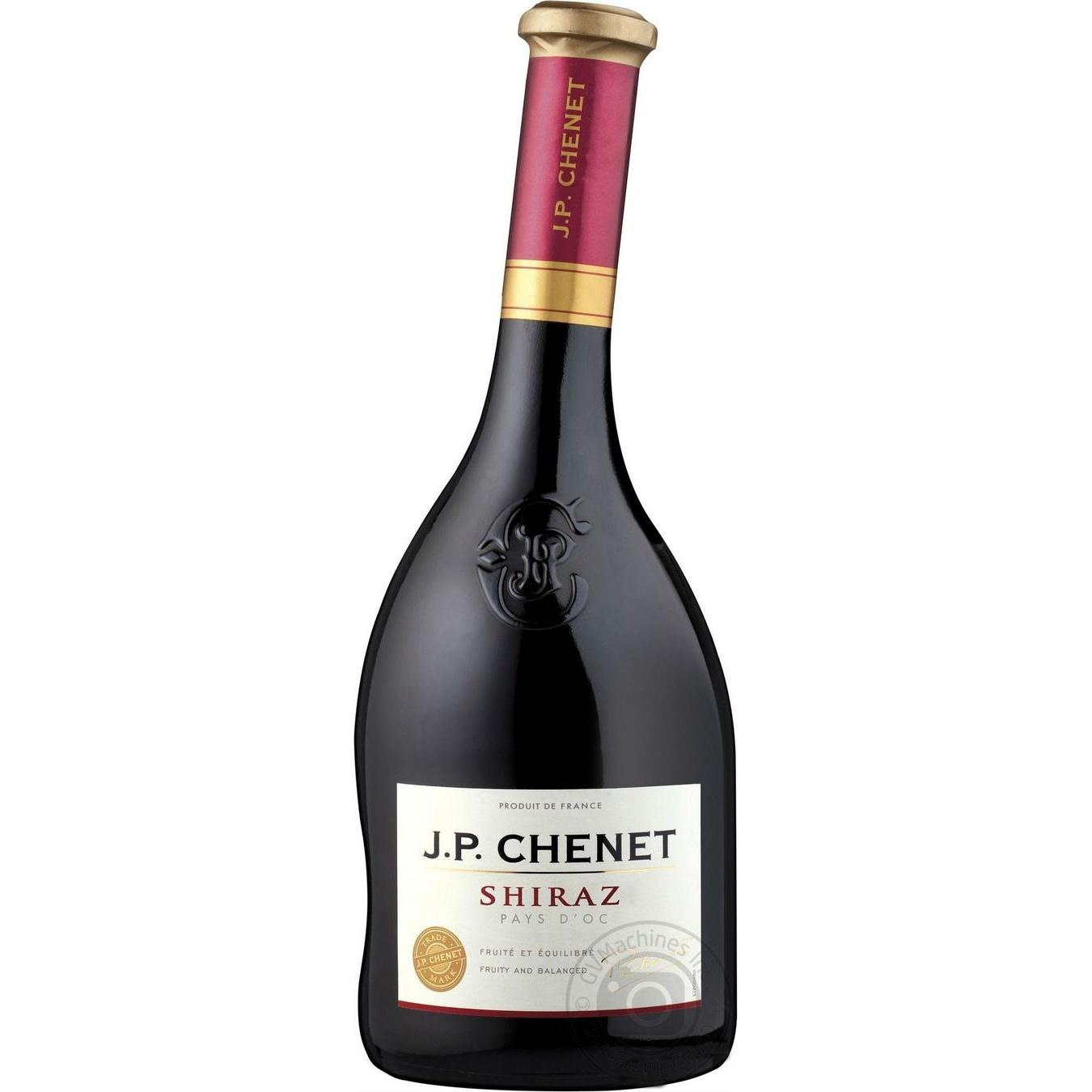 Купить Вино J.P. CHENET Shiraz красное сухое 0.75л