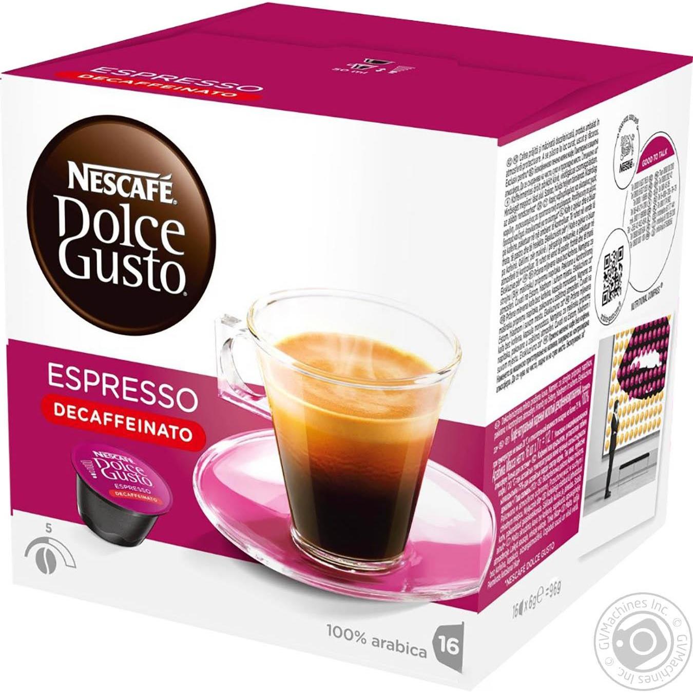 Купить Кофе Nescafe Dolce Gusto Эспрессо Декафеинато в капсулах 16*6г