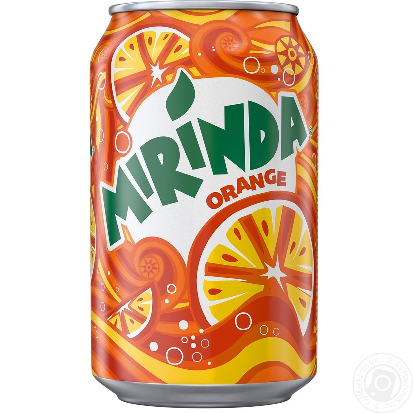 Купить Солодка вода, Напій Mirinda Апельсин 0, 33л ж/б