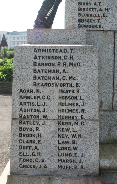 Morecambe War Memorial WW2 A-M.jpg