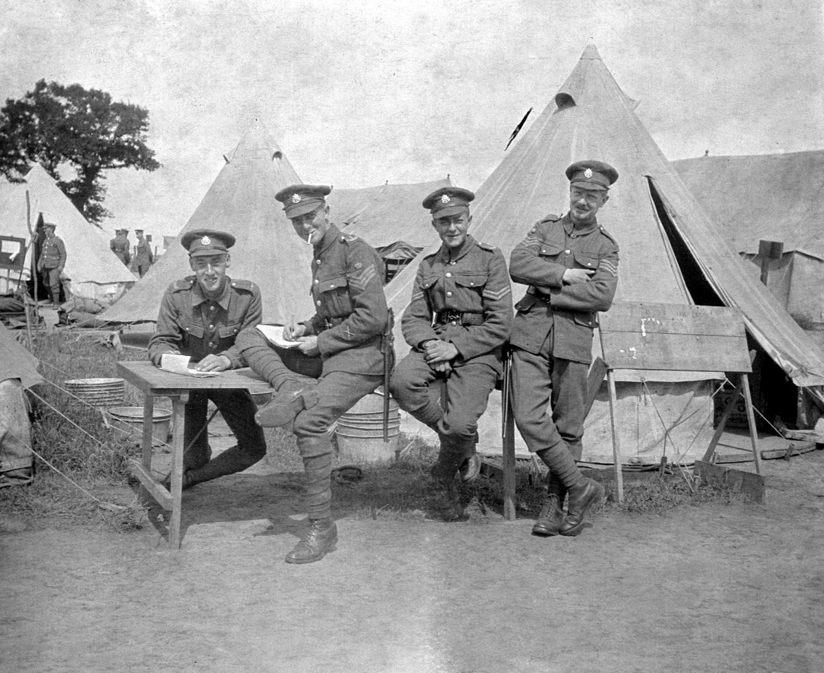 2.5th Battalion East Surrey Regimemnt 1917 photo 56 CQMS H and Lee and B . kent  24  7 1917 .jpg