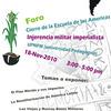 Foro: Jornada continental por el cierre de La Escuela de las Américas