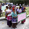 Protesters in Huehuetenango denounce state of siege in Santa Cruz Barillas