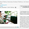 Mesa Pública Interviews Andrew Feldman, As Green As It Gets