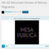 """We All Returned: Stories of Return Migration"""