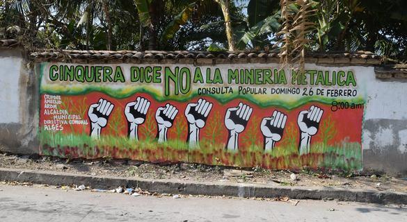 Cinquera primer municipio libre de minería en Cabañas