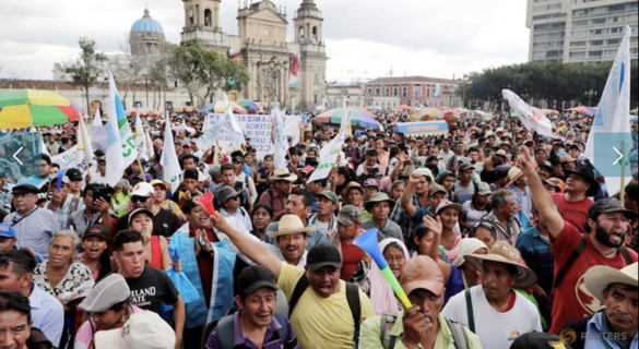 Special forces presence at anti-graft protest angers Guatemalans