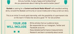 We're looking for a Content and Social Media Wizard