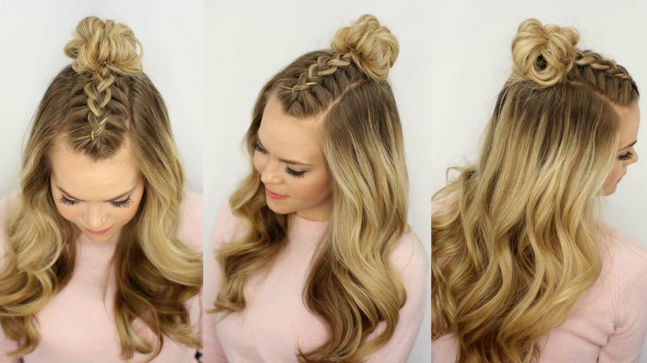 Braided Top Knot hair.com.au