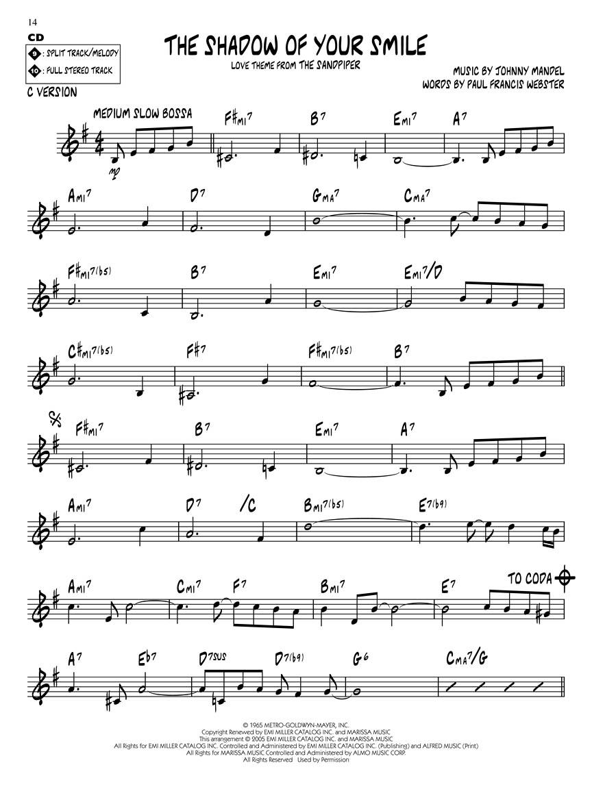 Johnny Mandel Jazz Play Along Volume 167 Bookcd Pack 103642