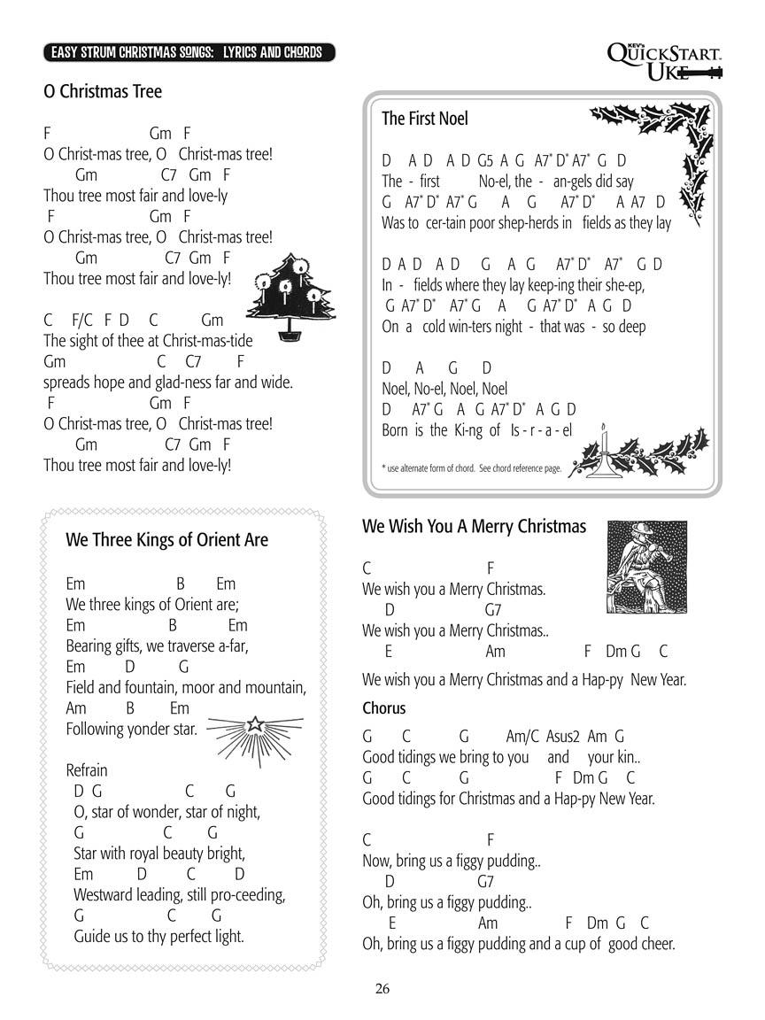 Ukulele Christmas Songs : Kev\'s QuickStart : arr. Kevin Rones Kev\'s ...