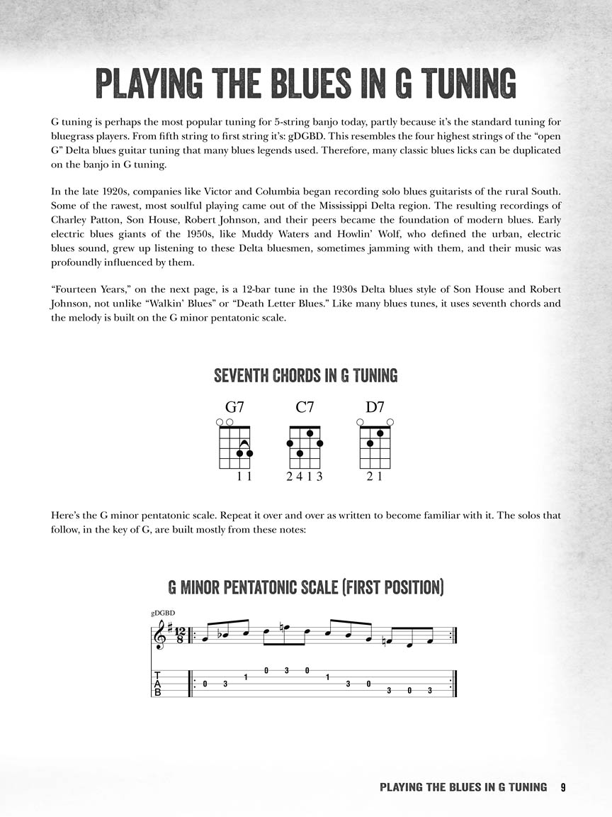 Songs /& More download code Riffs Licks Blues Banjo: Lessons