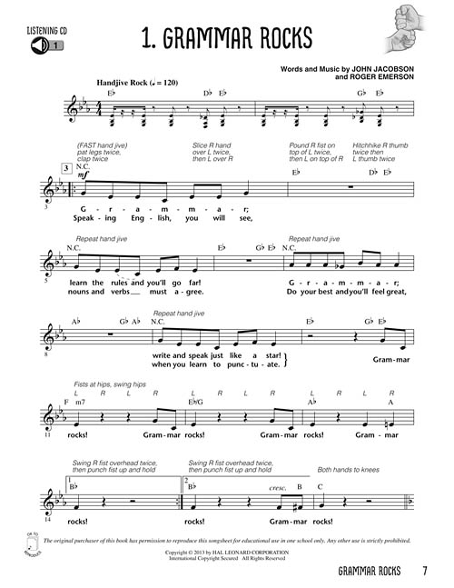 grammar rocks sheet music by jacobson  emerson  sku
