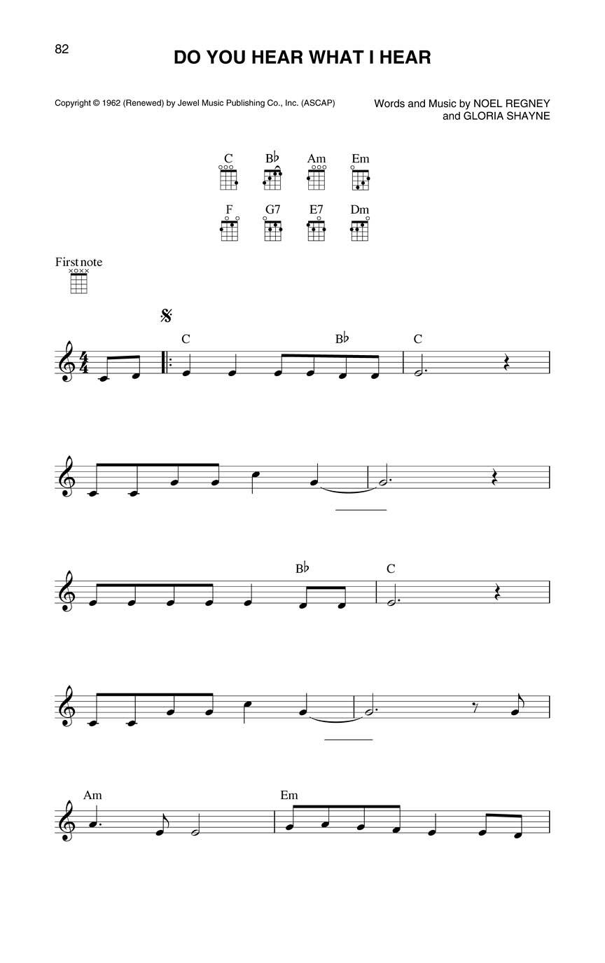 Christmas Ukulele Fake Book : Melody/Lyrics/Chords : # 120171