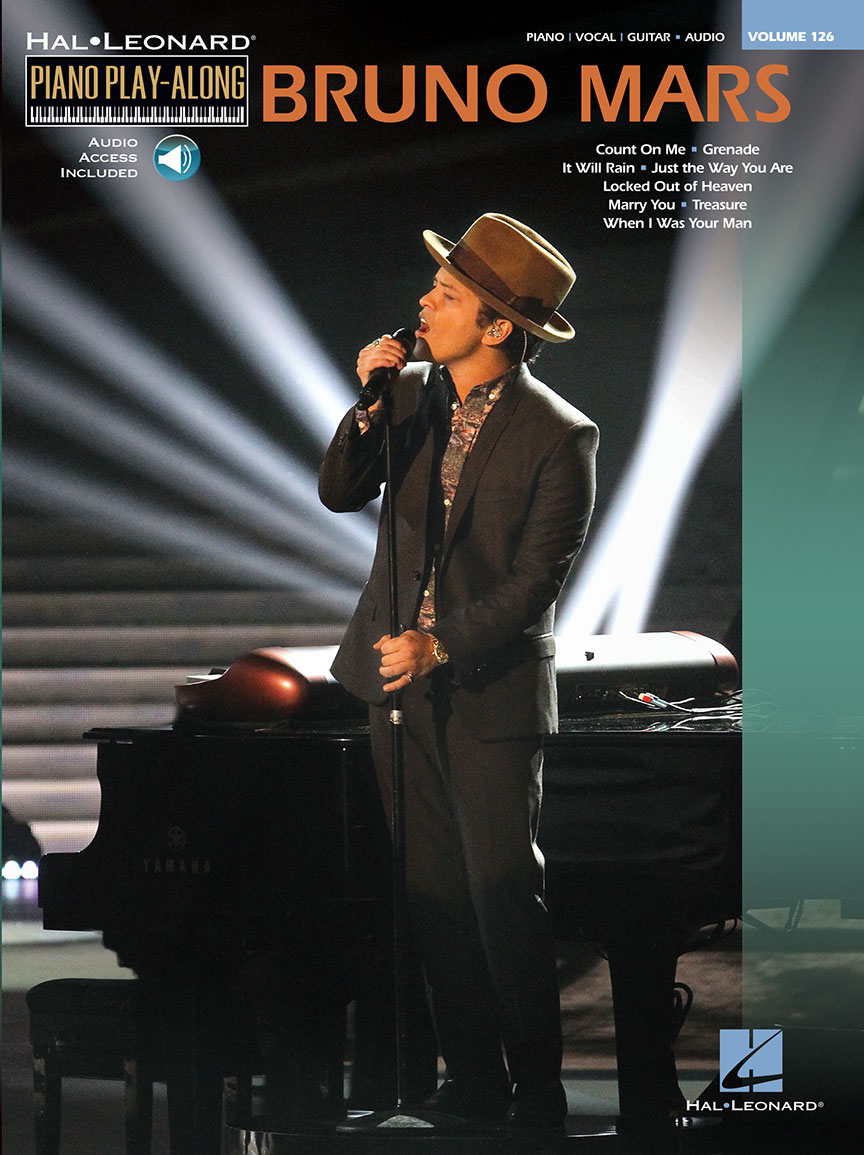 Bruno Mars Piano Play Along Volume 126 Bookonline Audio Pvg