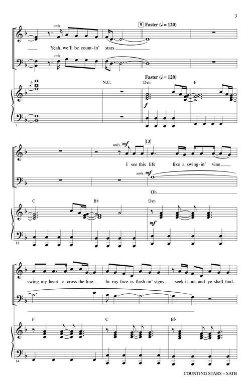 counting stars sheet music pdf