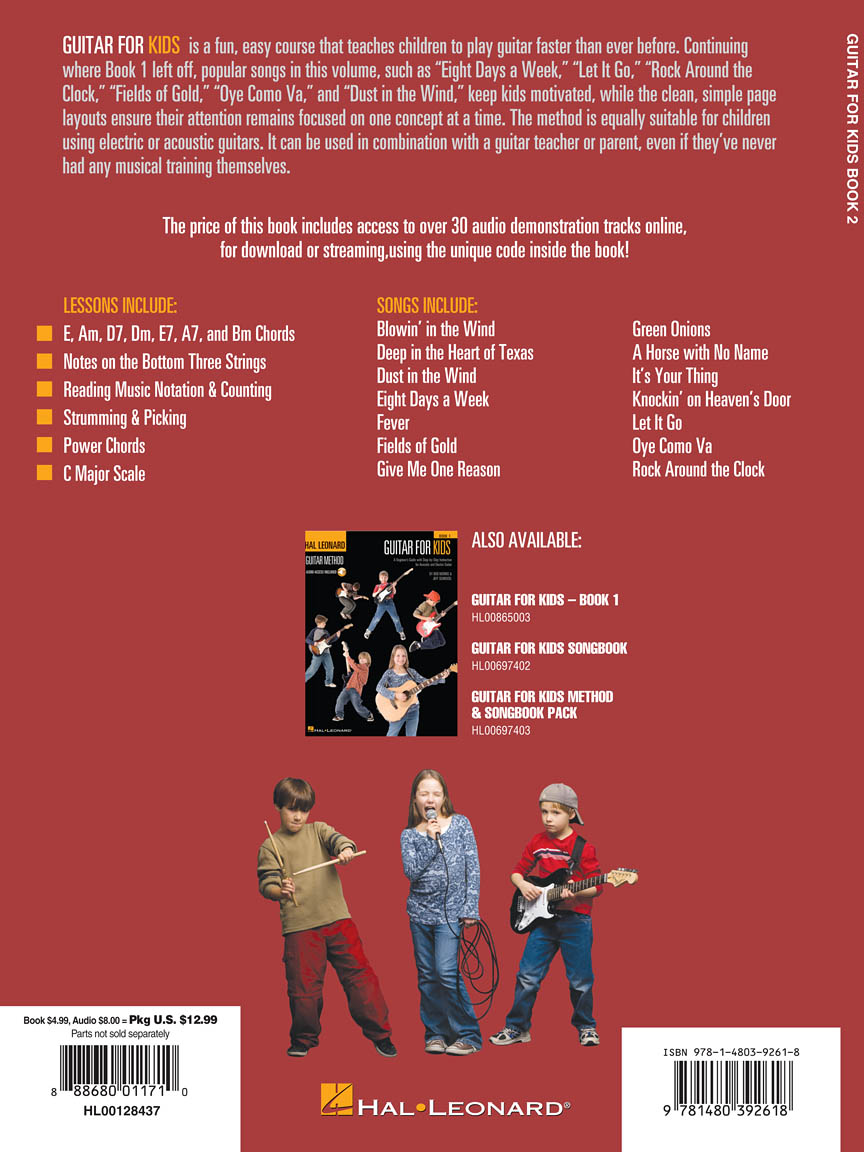 Guitar For Kids Book 2 Hal Leonard Guitar Method By Chad