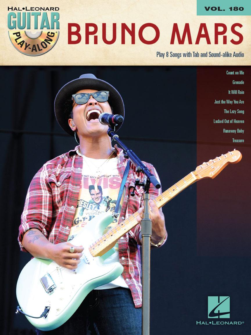 Bruno Mars Guitar Play Along Volume 180 Guitar Tab Bookcd