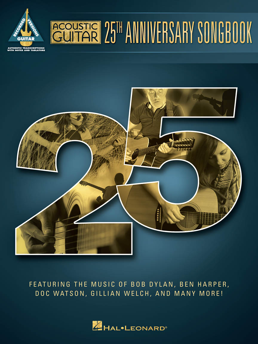 Acoustic guitar 25th anniversary songbook guitar tab guitar cover front cover hexwebz Choice Image