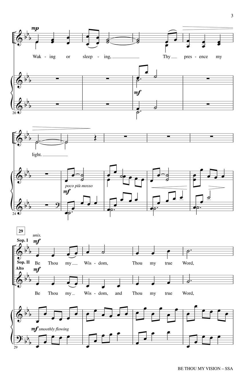 Be Thou My Vision Ssa Traditional Irish Hymnarr Dan Forrest