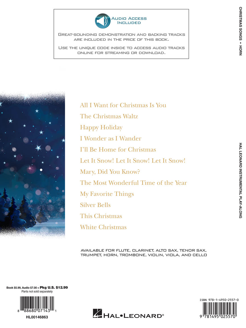 Christmas Songs for Horn : Instrumental Play-Along (Horn) : Books ...