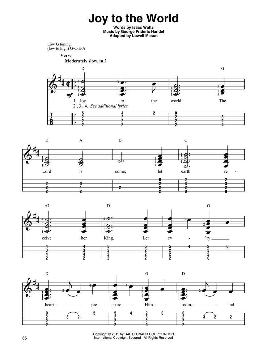 Christmas Carols for Solo Ukulele : for Tenor Ukulele (Guitar Tab ...