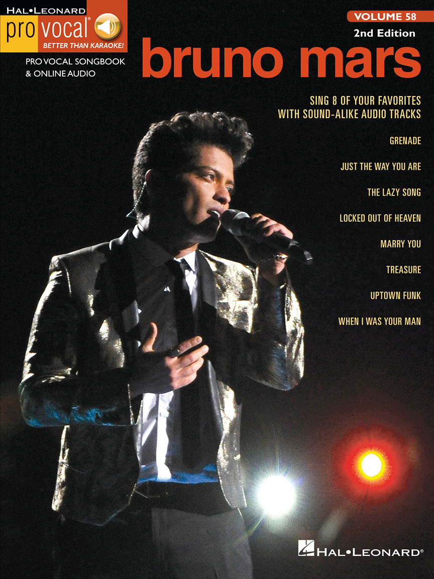 Bruno Mars Pro Vocal Mens Edition Volume 58 Bookonline Audio