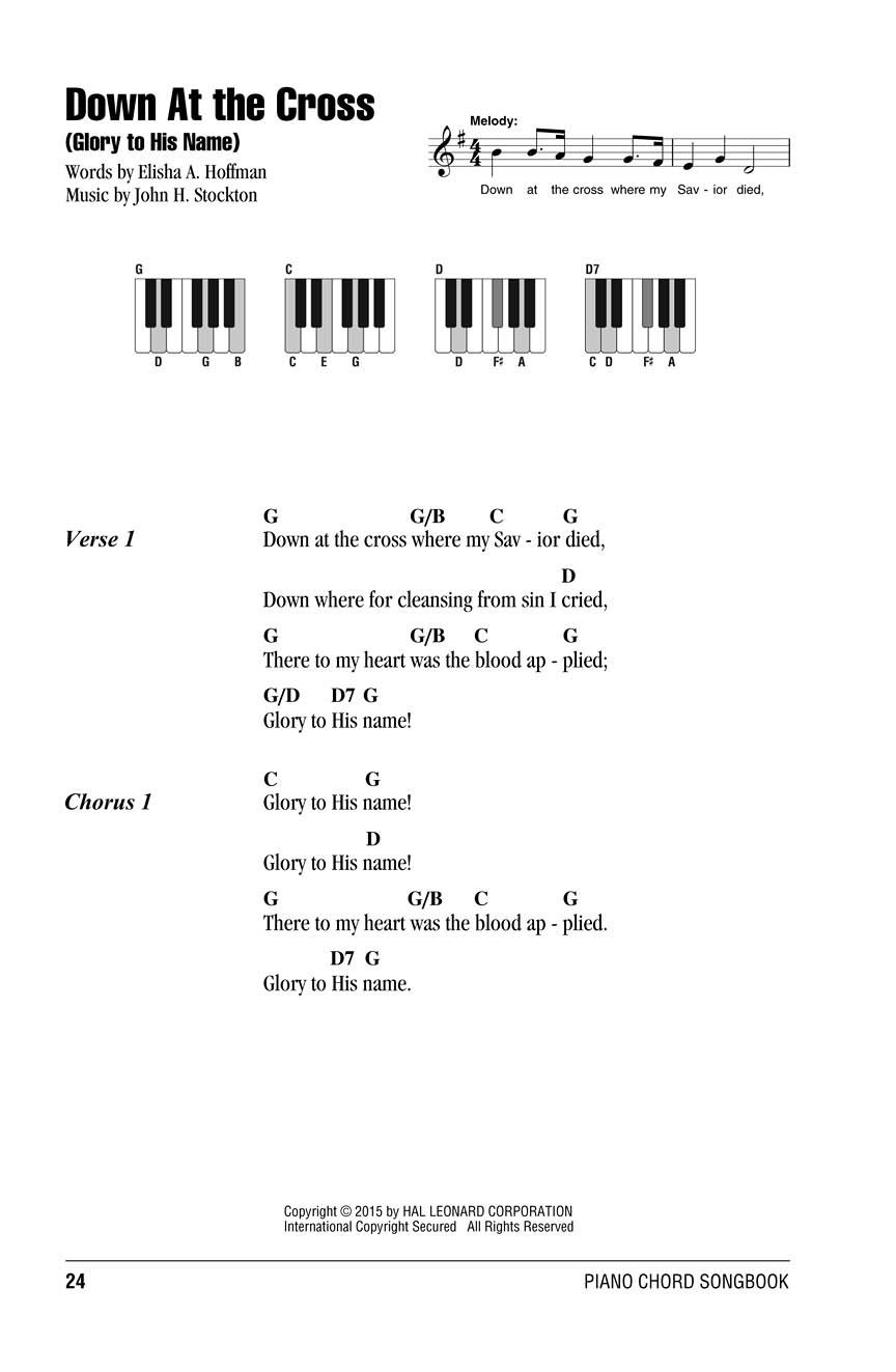 Gospel Hymns Piano Chord Songbook Lyricschord Symbolspiano