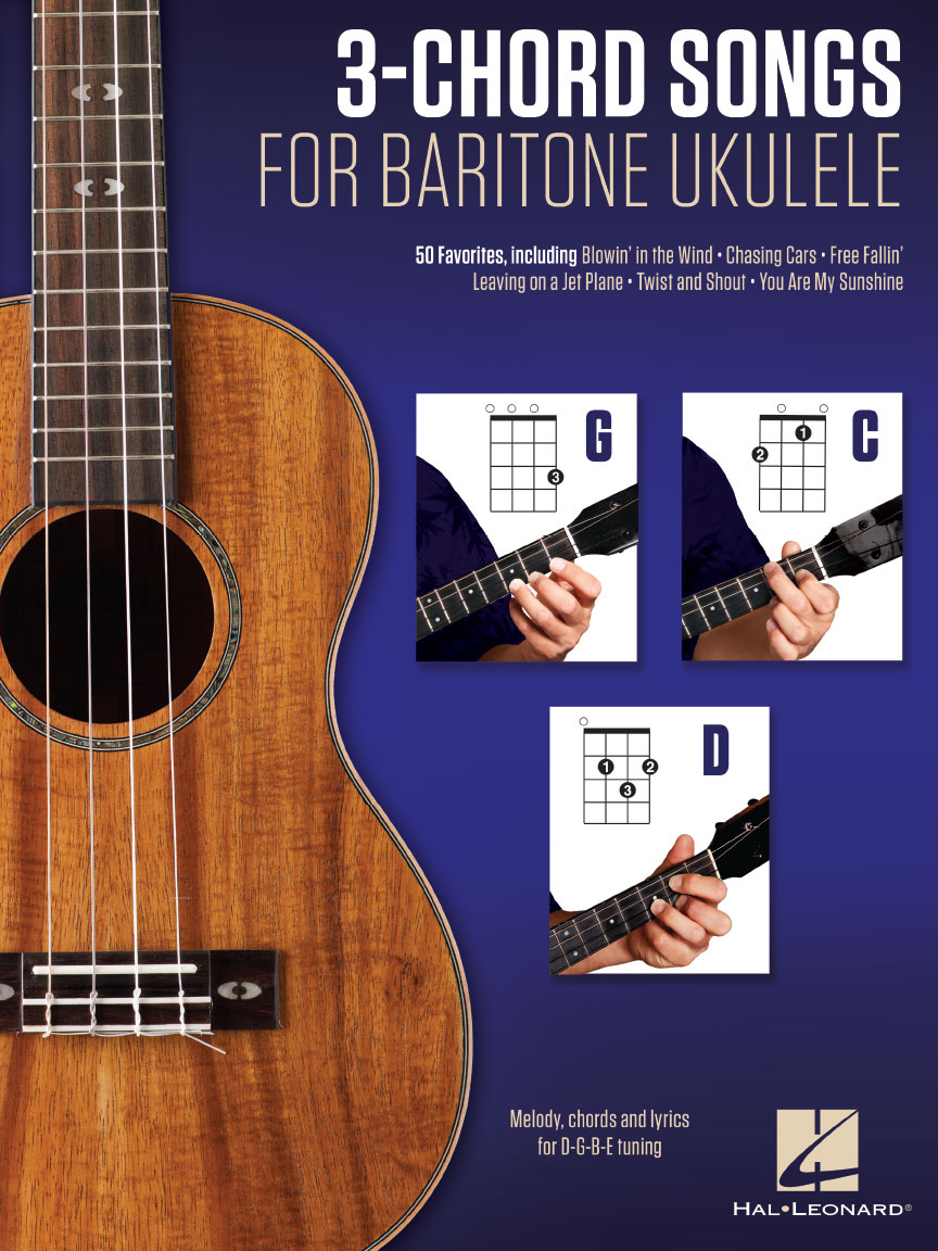 3 Chord Songs For Baritone Ukulele G C D Melody Chords And
