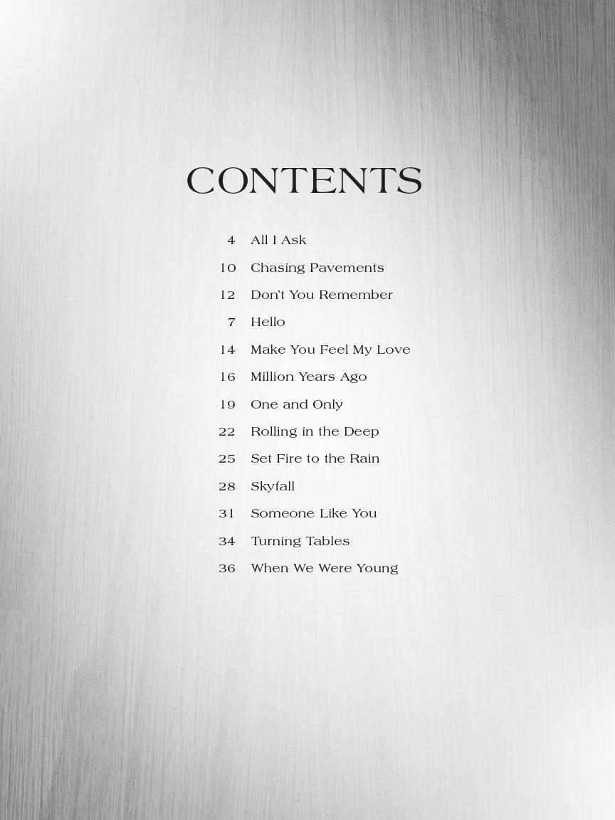 Adele Strum Sing Strum And Sing Series Softcover Lyrics