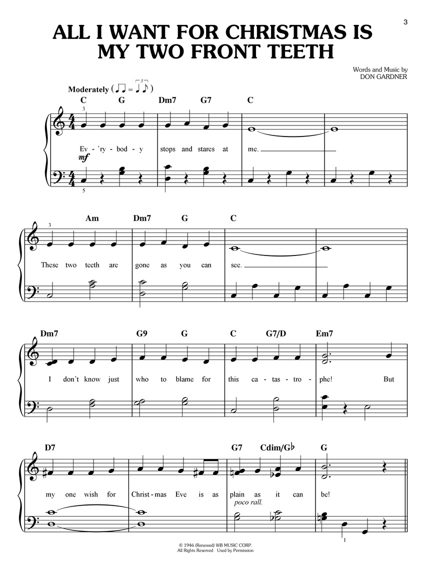 First 50 Christmas Songs You Should Play on the Piano : Easy Piano ...