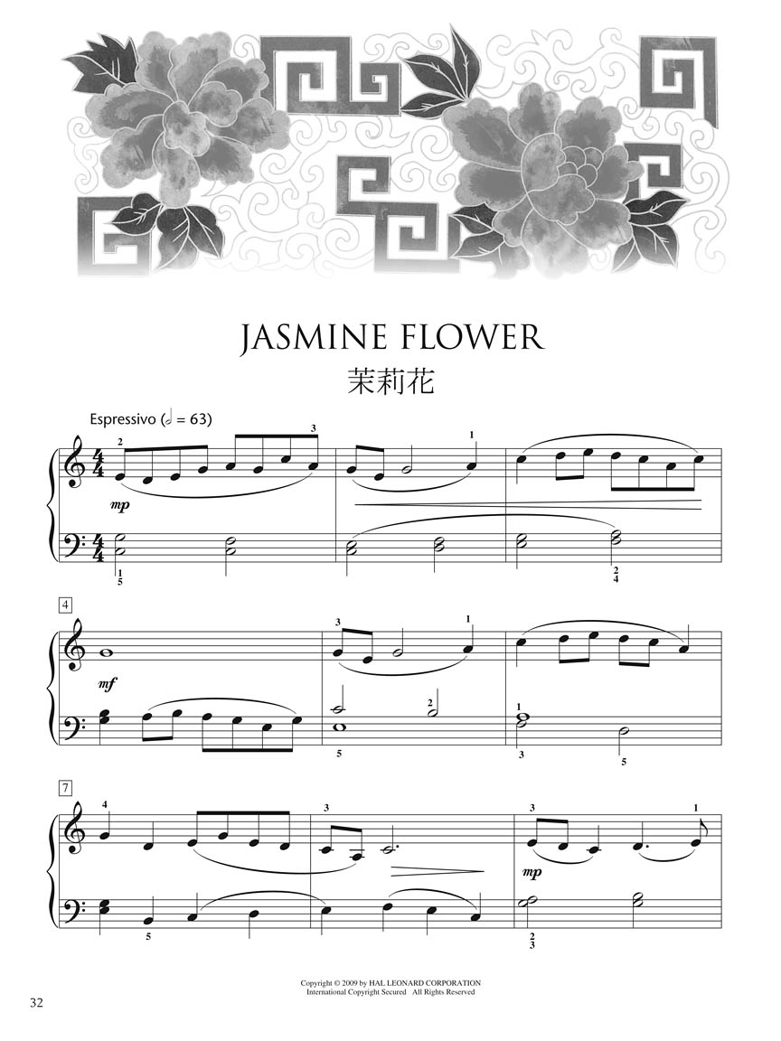 Chinese Folk Songs Collection 24 Traditional Songs Arranged For