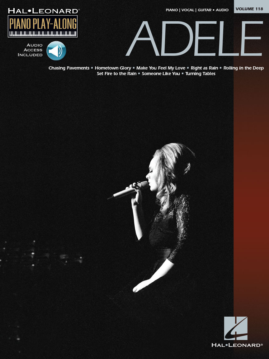 Adele Piano Play Along Volume 118 Bookonline Audio Pvg