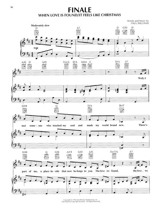 The Muppet Christmas Carol Sheet Music by Paul Williams (SKU: 00312483) - Stanton's Sheet Music