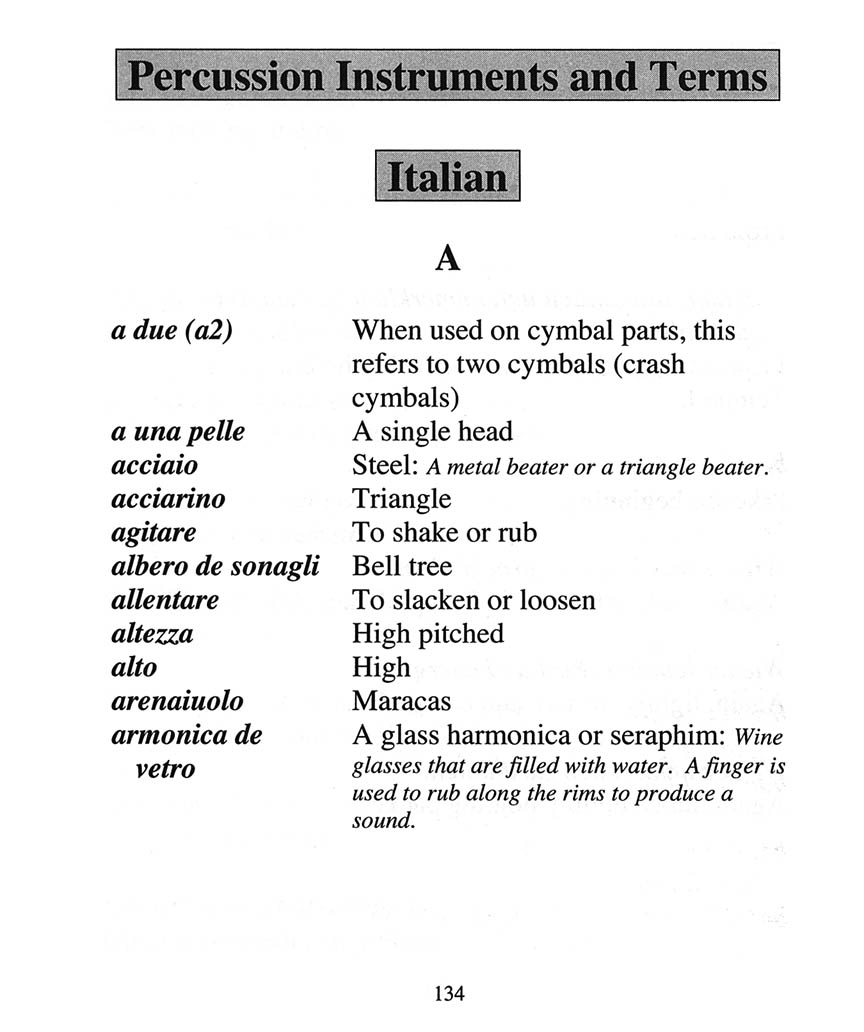 Terms: Cirone's Pocket Dictionary Of Foreign Musical Terms