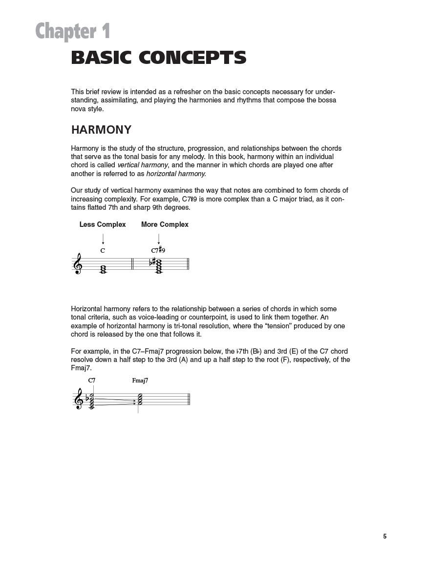 Bossa Nova Guitar Essential Chord Progressions Patterns Rhythms