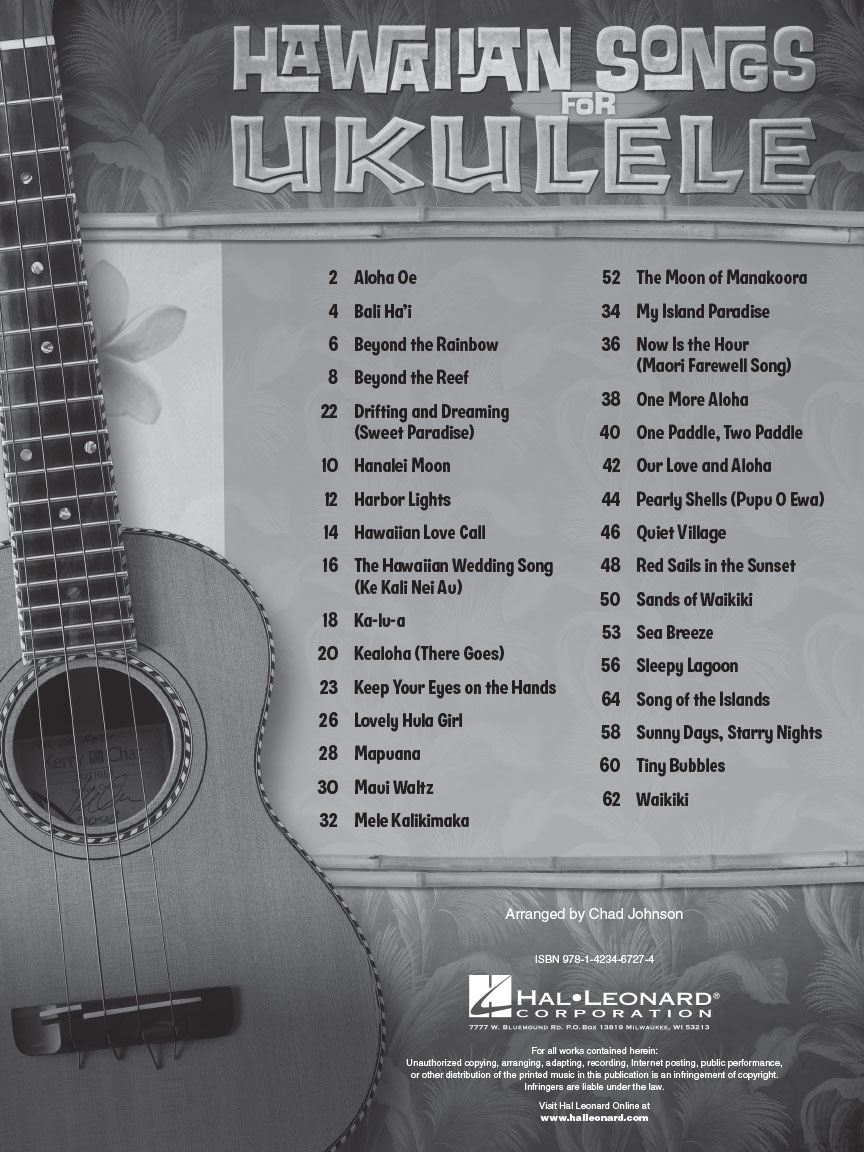 Hawaiian Songs For Ukulele Ukulele 696065