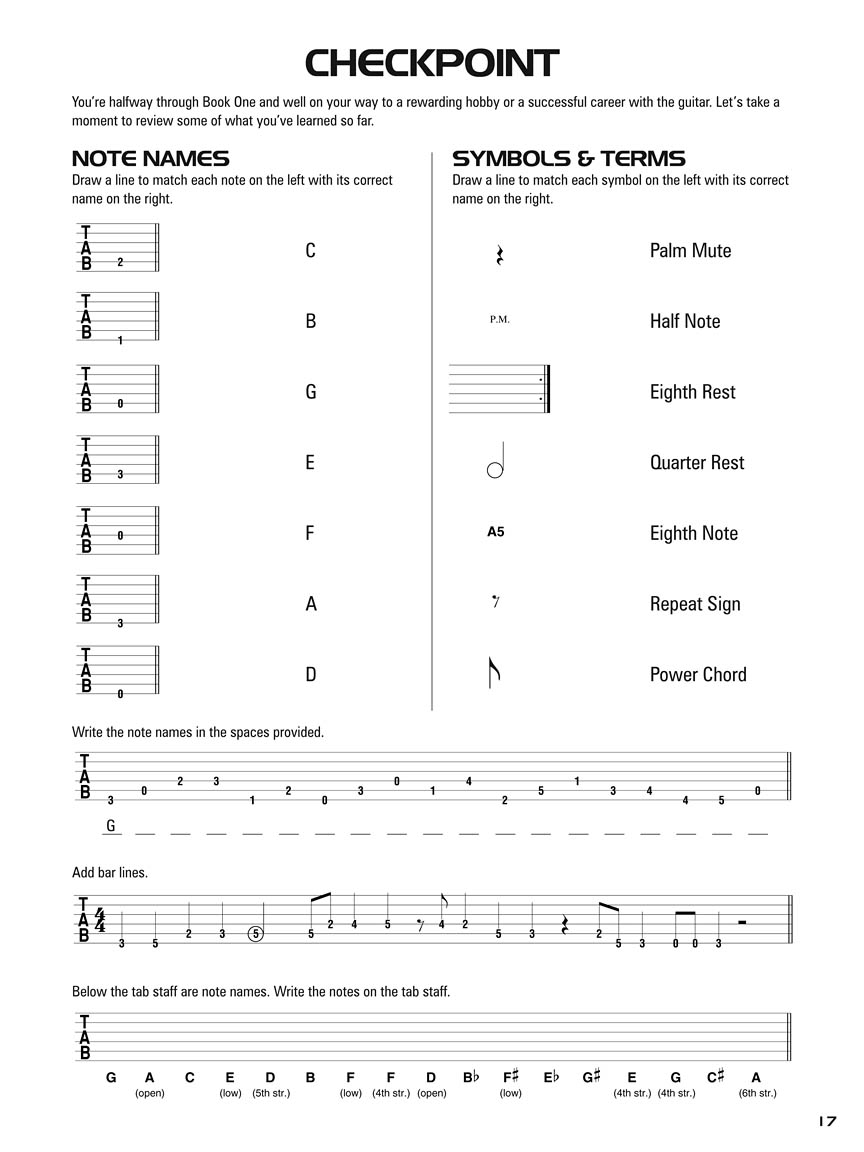 Hal Leonard Guitar Tab Method Books 1 2 Combo Edition Guitar
