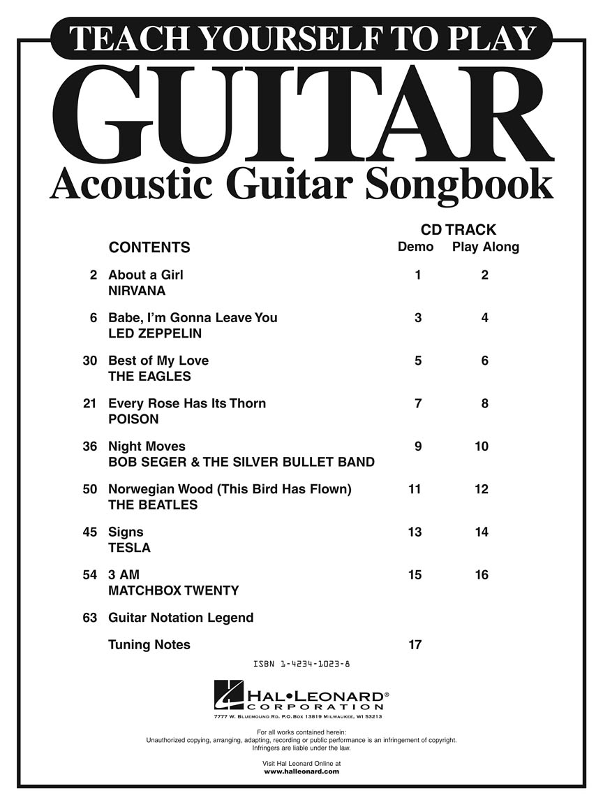 Book Of Love Cover Acoustic ~ Teach yourself to play guitar acoustic songbook