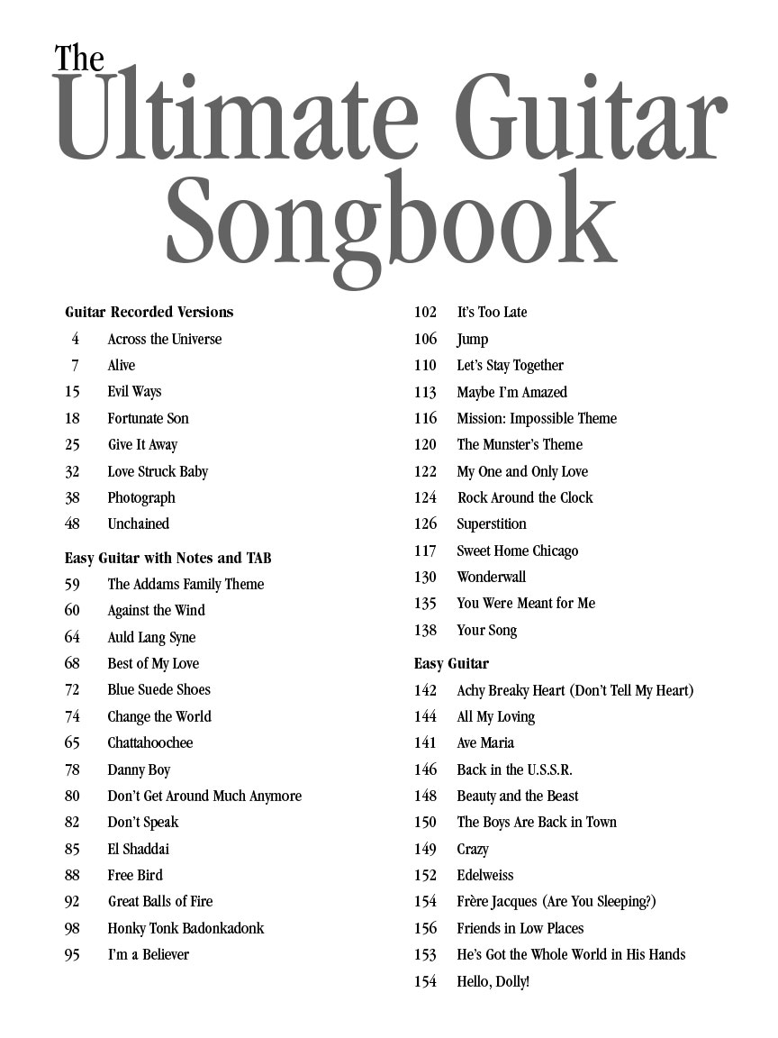 The Ultimate Guitar Songbook Second Edition The Complete
