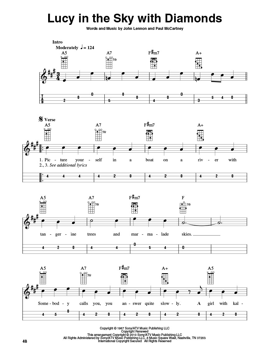 The Beatles for Mandolin (Guitar Tab) : arr. Bobby Westfall : Mandolin : # 701223