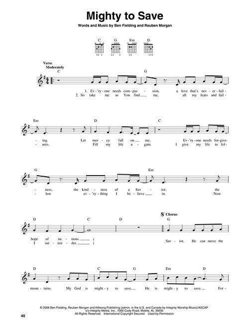 4 Chord Worship Songs For Guitar Sheet Music by Richard Mullins (SKU ...